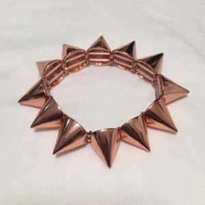 Rose gold SPIKED bracelet.